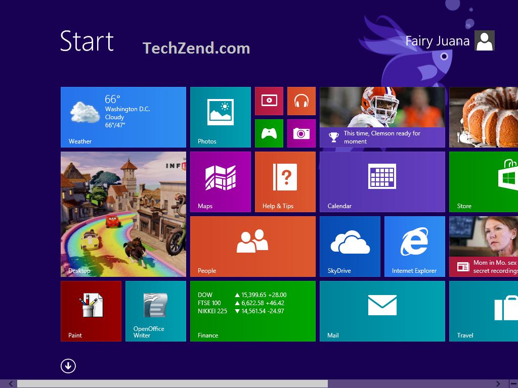 Change Start Screen Background 1