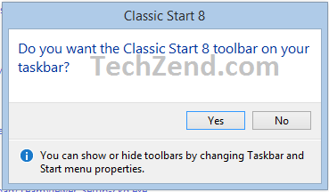 Get Classic Start 8 Toolbar for Windows 8.1