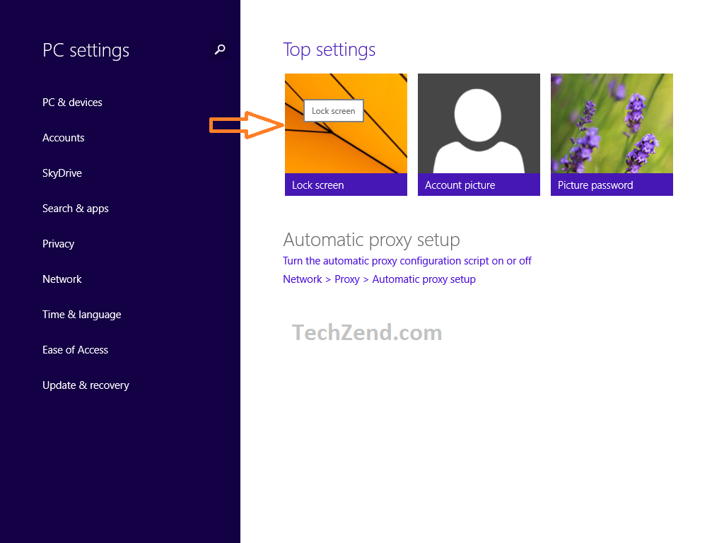 Lock Screen Option in Windows 8.1 3