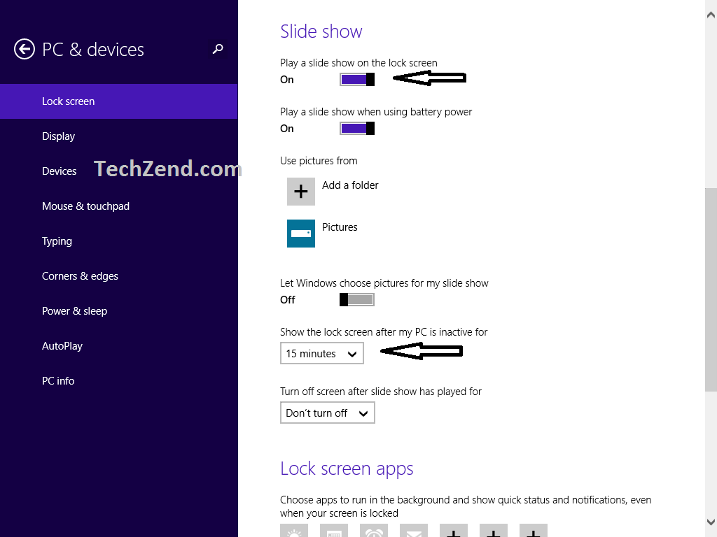 Customize Windows 8.1 Lock Screen Background, Apps  Slideshow Feature