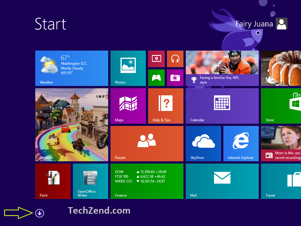 Start Screen for Command Prompt