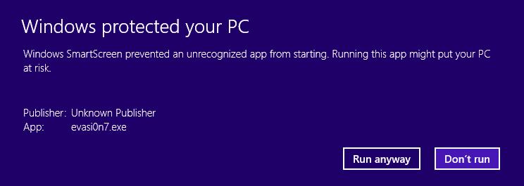 Windows 8.1 SmartScreen Filter