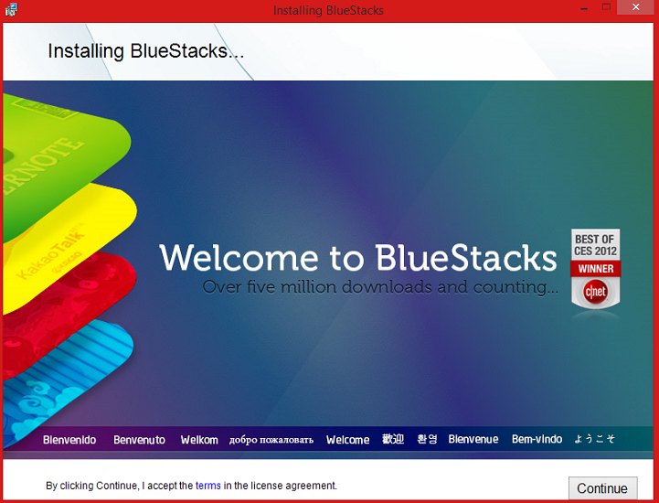 Bluestacks setup