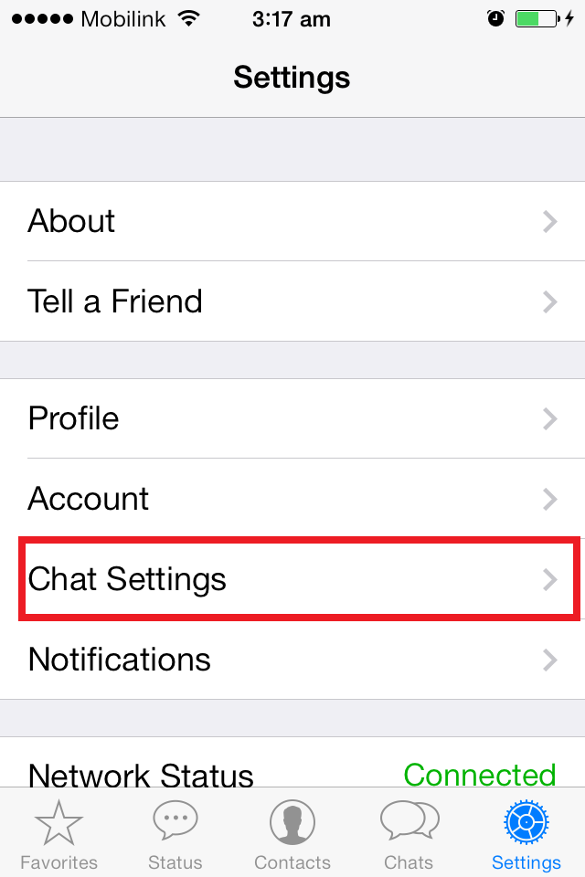 chat settings