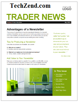 publisher 2013 newsletter templates