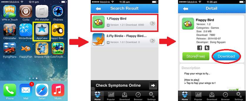 Search flappy bird