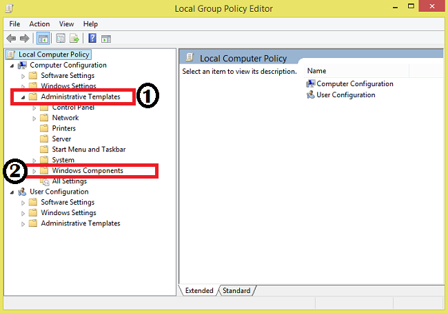 Local Group Policy Editor [Administrative Templates]