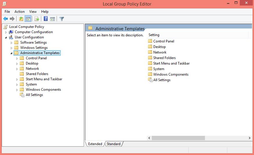 Administrative Templates GPE