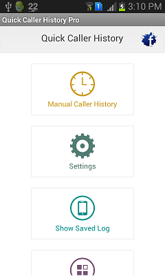 Settings [Quick Caller History]