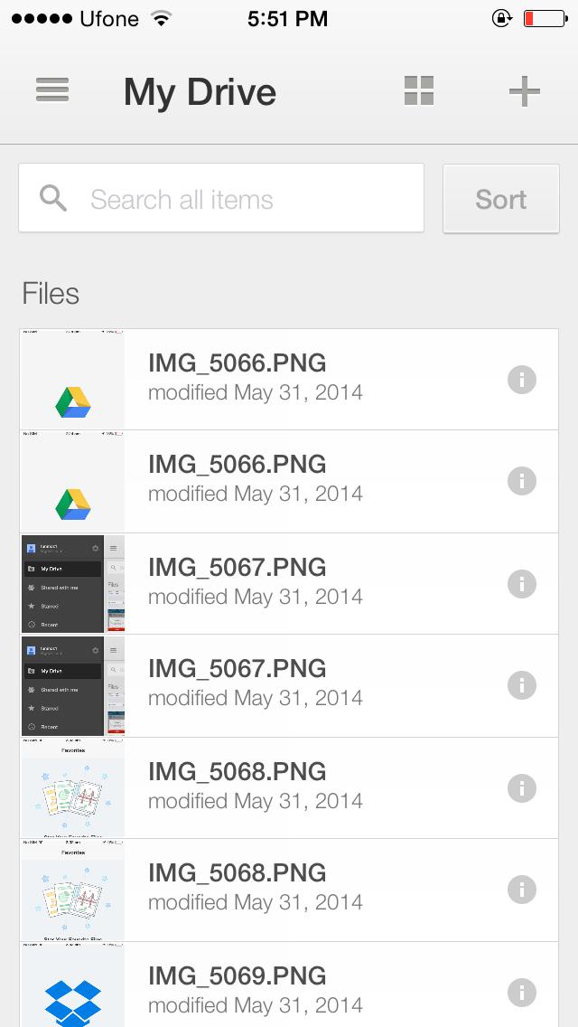 Google Drive iOS 8