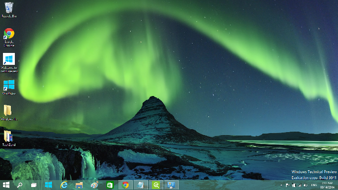 Aurora Borealis theme for Windows