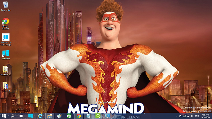 Megamind theme for Windows
