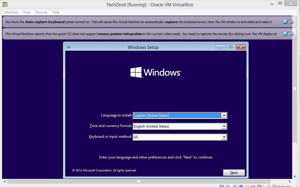 How to Install Windows 10 Technical Preview on VirtualBox