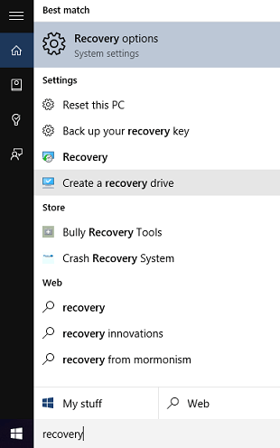 windows 10 usb recovery image