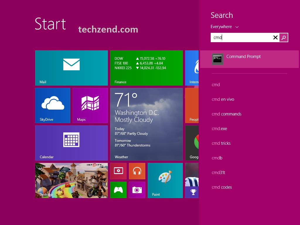 Start Screen in Windows 8.1