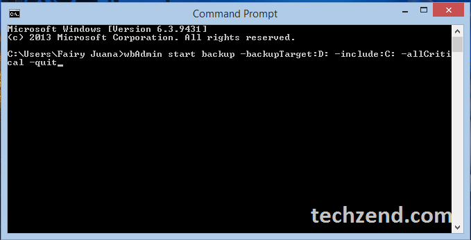 Command Prompt in Windows 8.1