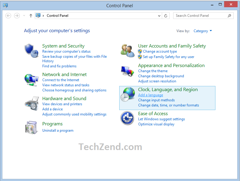Add a Language Option in Control Panel 2