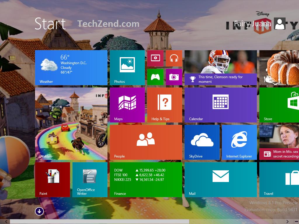 Desktop Background at Start Screen 3