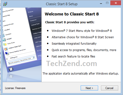 Download Classic Start 8 for Windows 8.1
