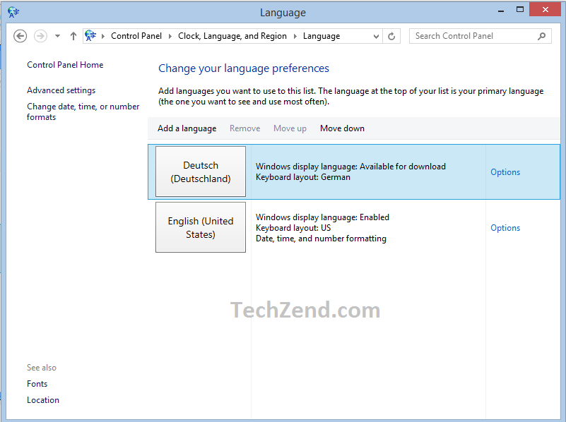 Set German Language as System Language 6