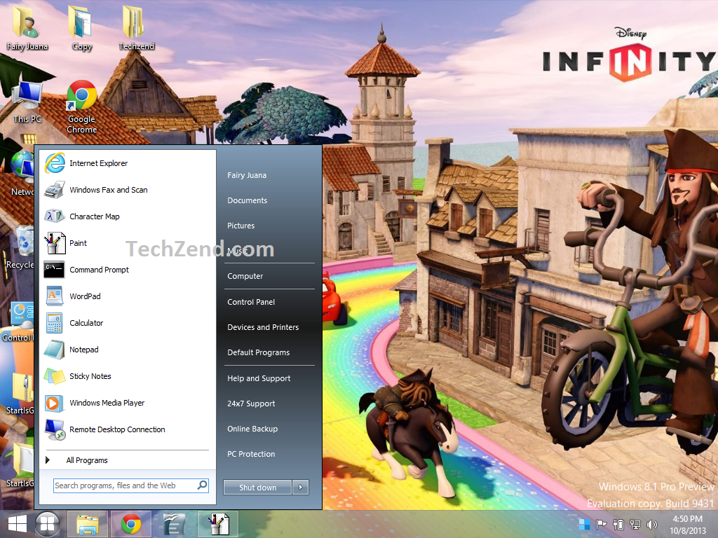 Start Screen in Old Style in Windows 8.1