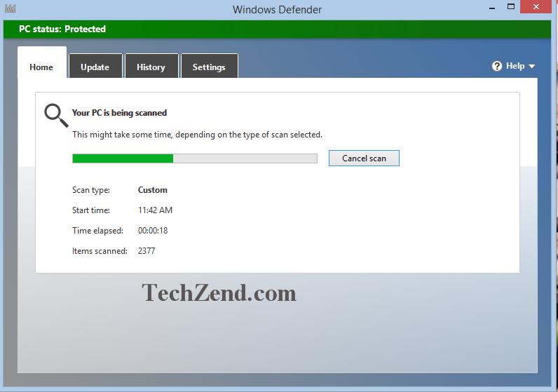 Windows Defender Scanning Files and Folders 4