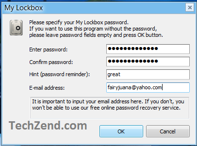 My Lockbox Password Settings-3