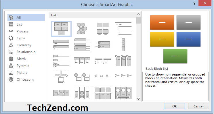 Select a SmartArt Graphic-2
