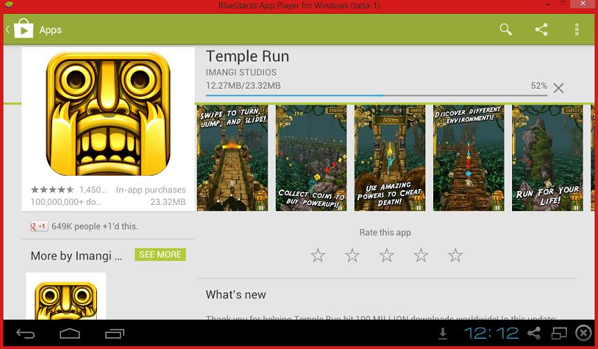 Installing Temple Run