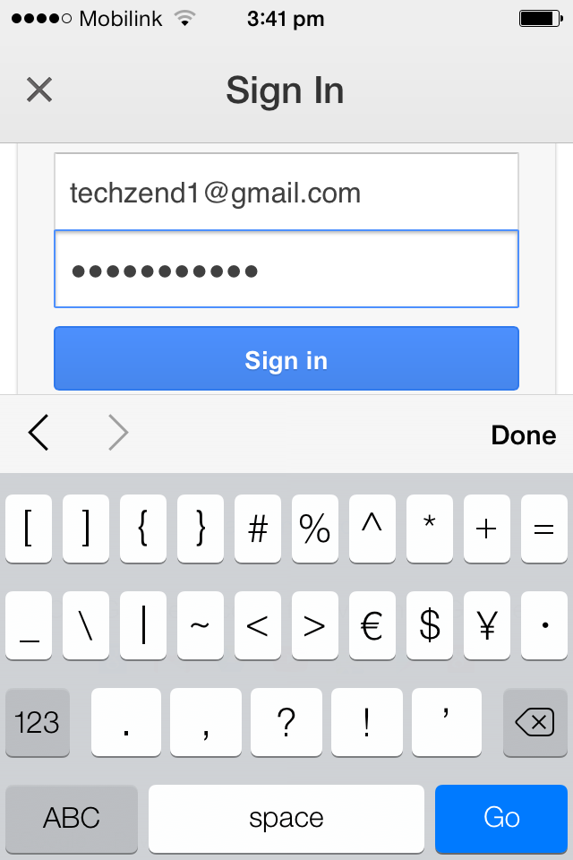 Sign-in Google drive