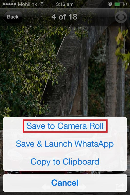 Save to Camera Roll