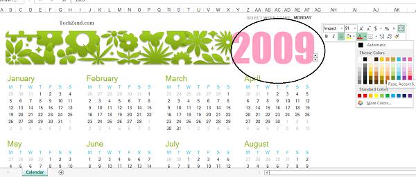 Calendar Formatting-5B