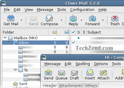 Claws-Mail Inbox