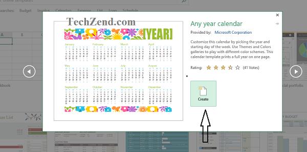 Create option for Calendar-4
