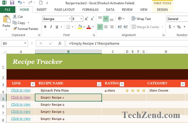 Recipe Tracker Formatting-4