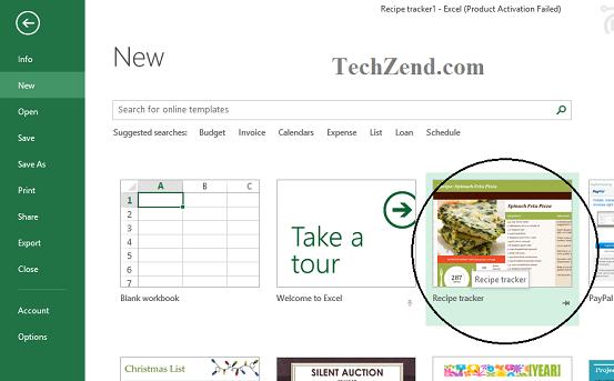 Recipe Tracker in Excel 2013-3
