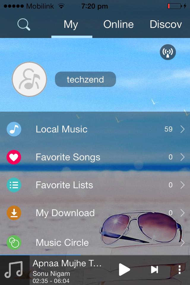 TTpod Music Player home