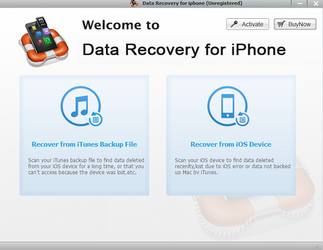 Data recovery for iPhone tool