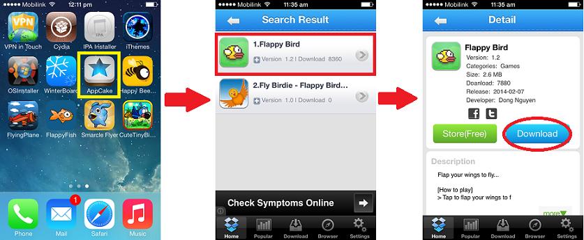 Search flappy bird