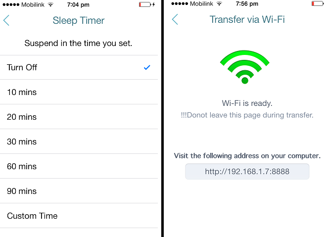 Sleep and Wifi Features