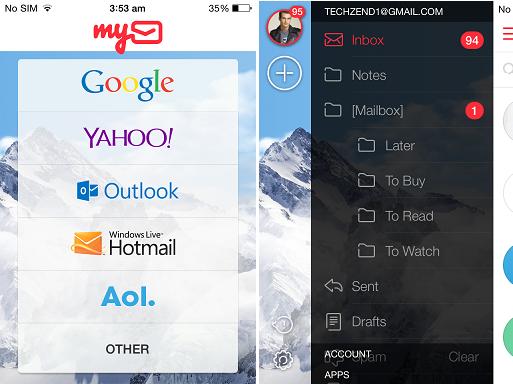 MyMail iOS App