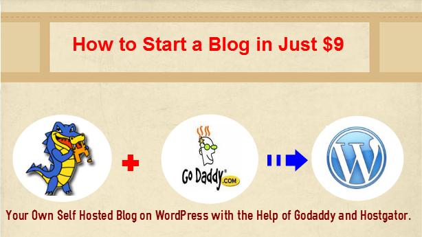 Start a WordPress Blog with Godaddy and Hostgator under $9