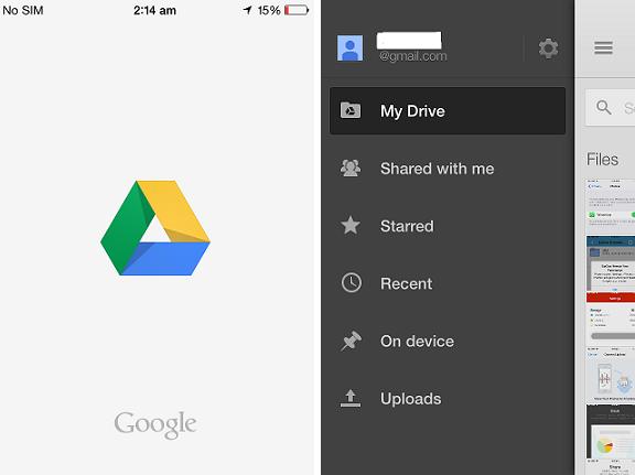 Google Drive iOS app (15GB free storage)