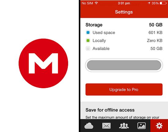 Mega iOS app (50GB free Cloud Storage)
