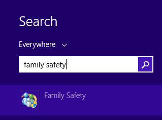 Search family safety