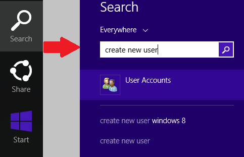 search Bar Windows 8.1