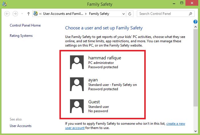 Choose a user