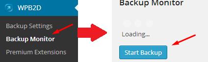WPB2D Start Backup