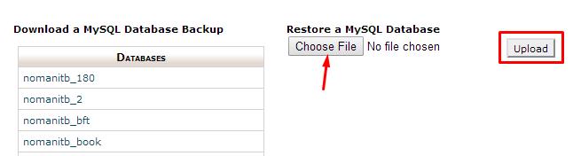 Restore Database File