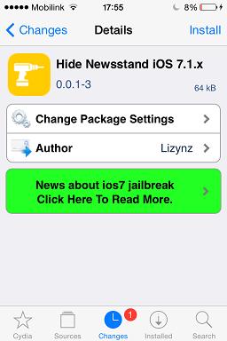 Hide Newsstand iOS 7.1.x
